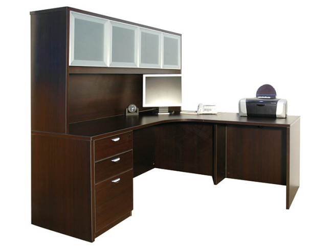 "66""X66"" CORNER CURVED WORKSTATION PACKAGE"