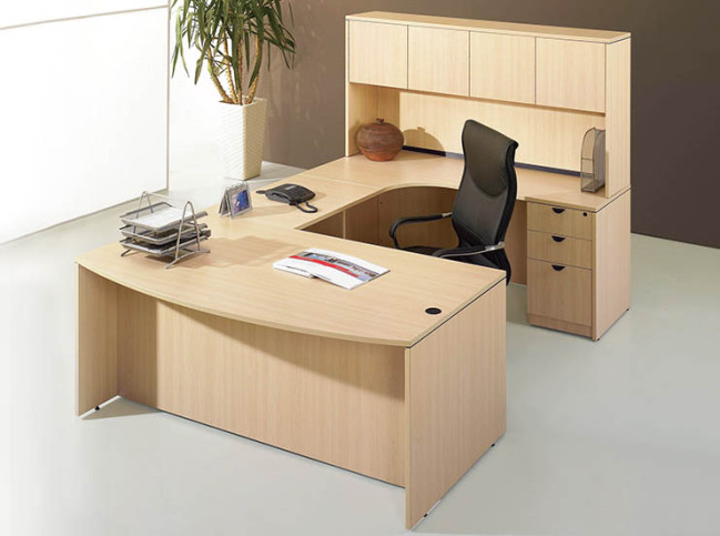 BOW FRONT LAMINATE WORKSTATION