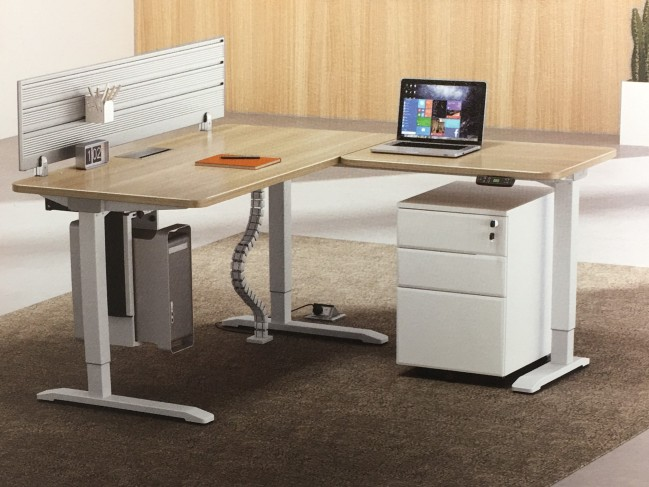 L-SHAPED ELECTRIC HEIGHT ADJUSTABLE TABLES