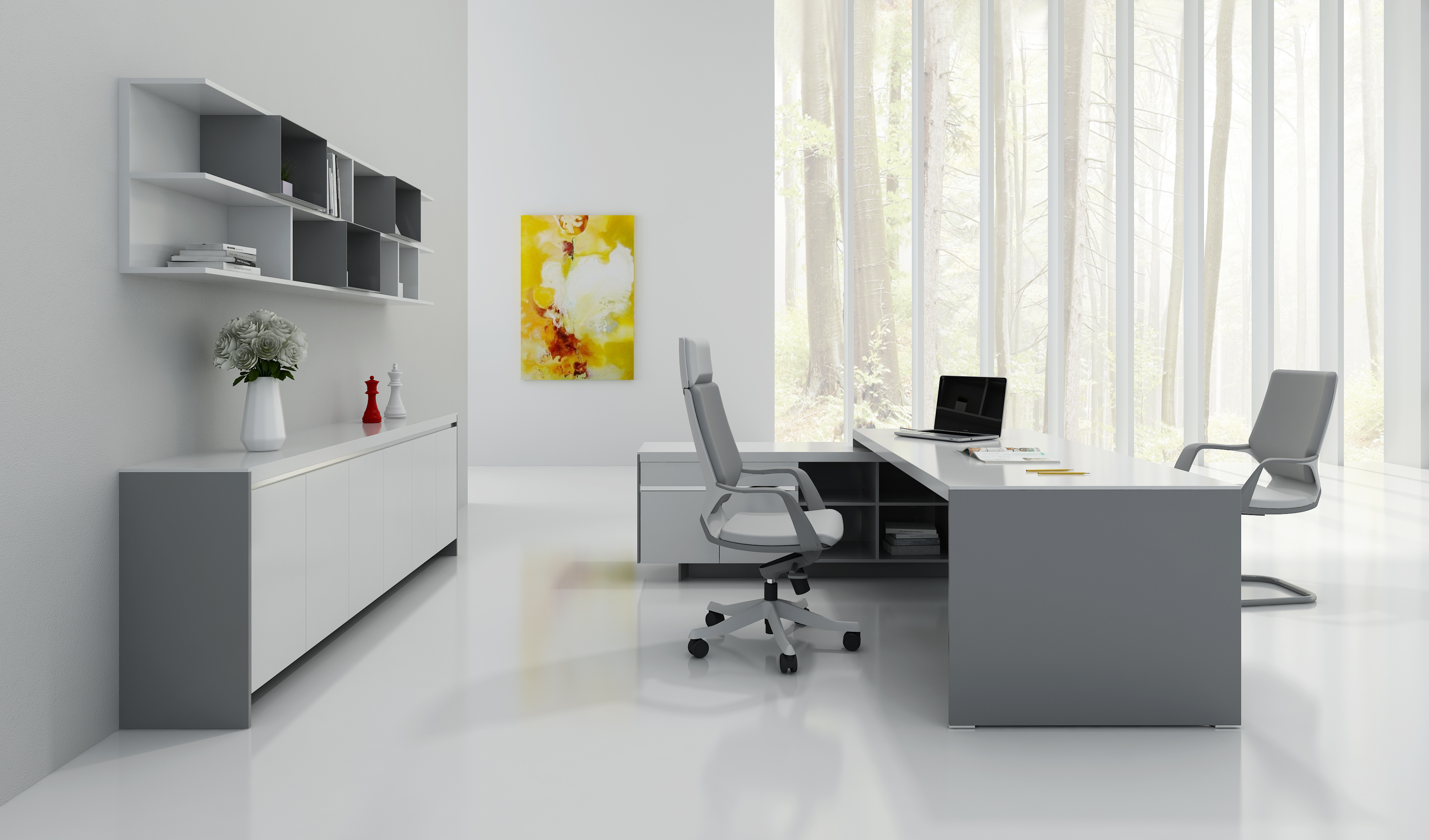 Exective Desk With Cabinet