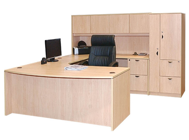 BOW FRONT WORKSTATION PACKAGE