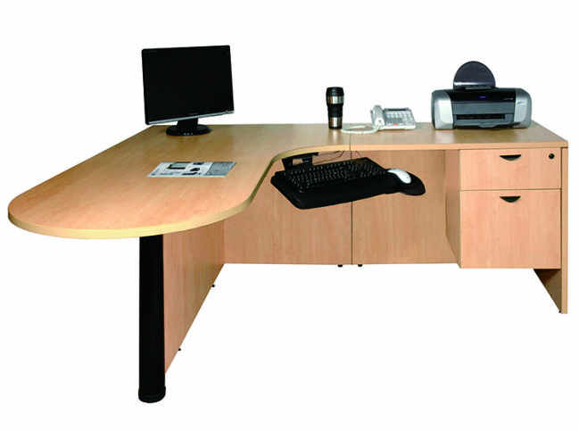 BULLET WITH CORNER EXECUTIVE DESK WORKSTATION