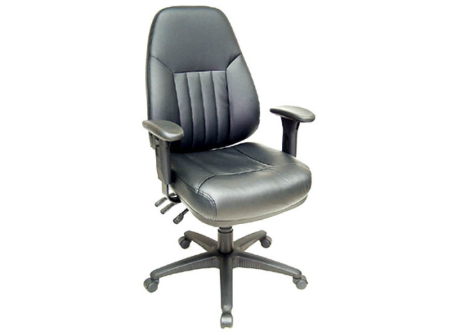 ERGOMATIC HIGH BACK EXECUTIVE MULTI- FUNCTION LEATHER TASK CHAIR