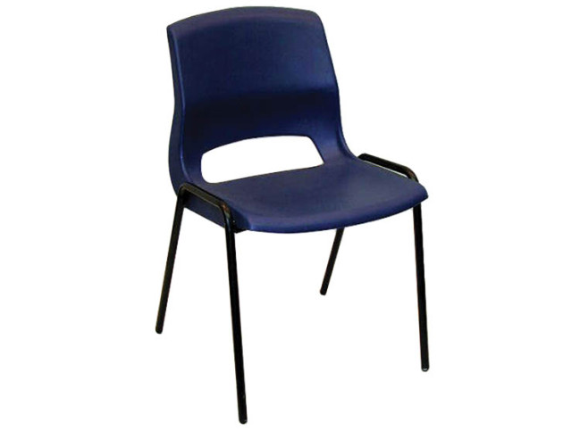POLYPROPYLENE STACKING CHAIR WITH 4 LEG BASE