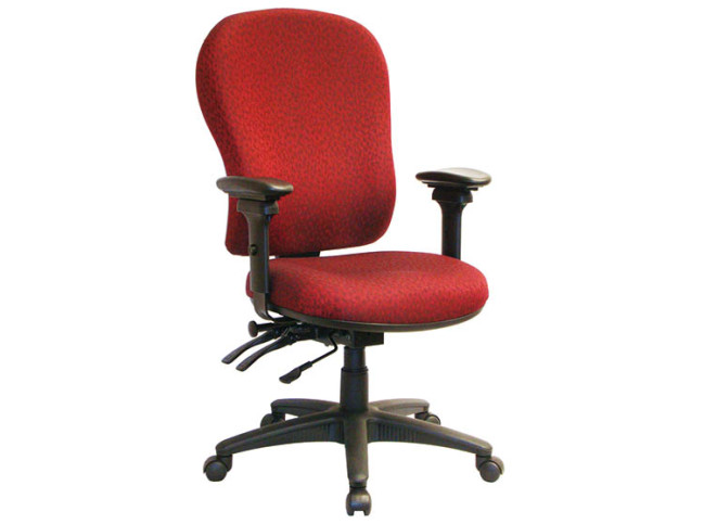 PRIMA SERIES – HIGH BACK MULTI-TASK CHAIR WITH SEAT SLIDER AND ROTATING ARMREST