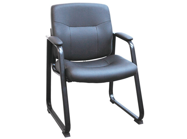 SLAB BASE LEATHERETTE GUEST CHAIR