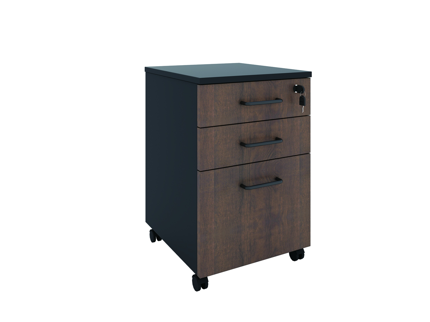 Three Drawer Movable Cabinet Mobile Box/File Pedestal