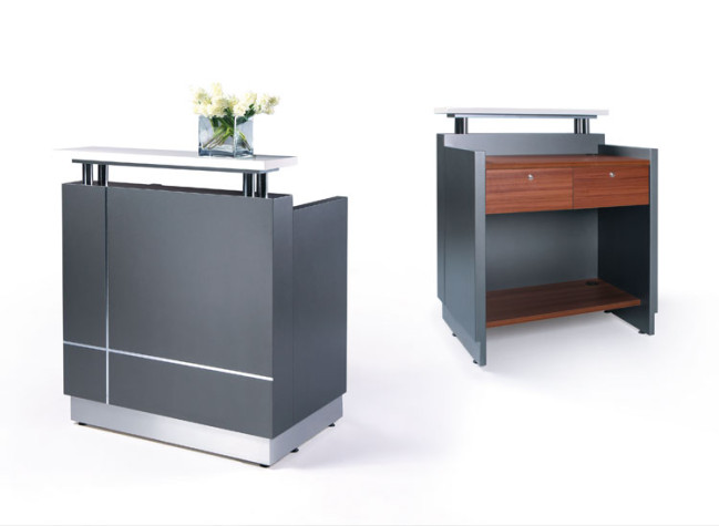 new office hand presents walnut desks recliners furniture and second receptionist fair reception desk