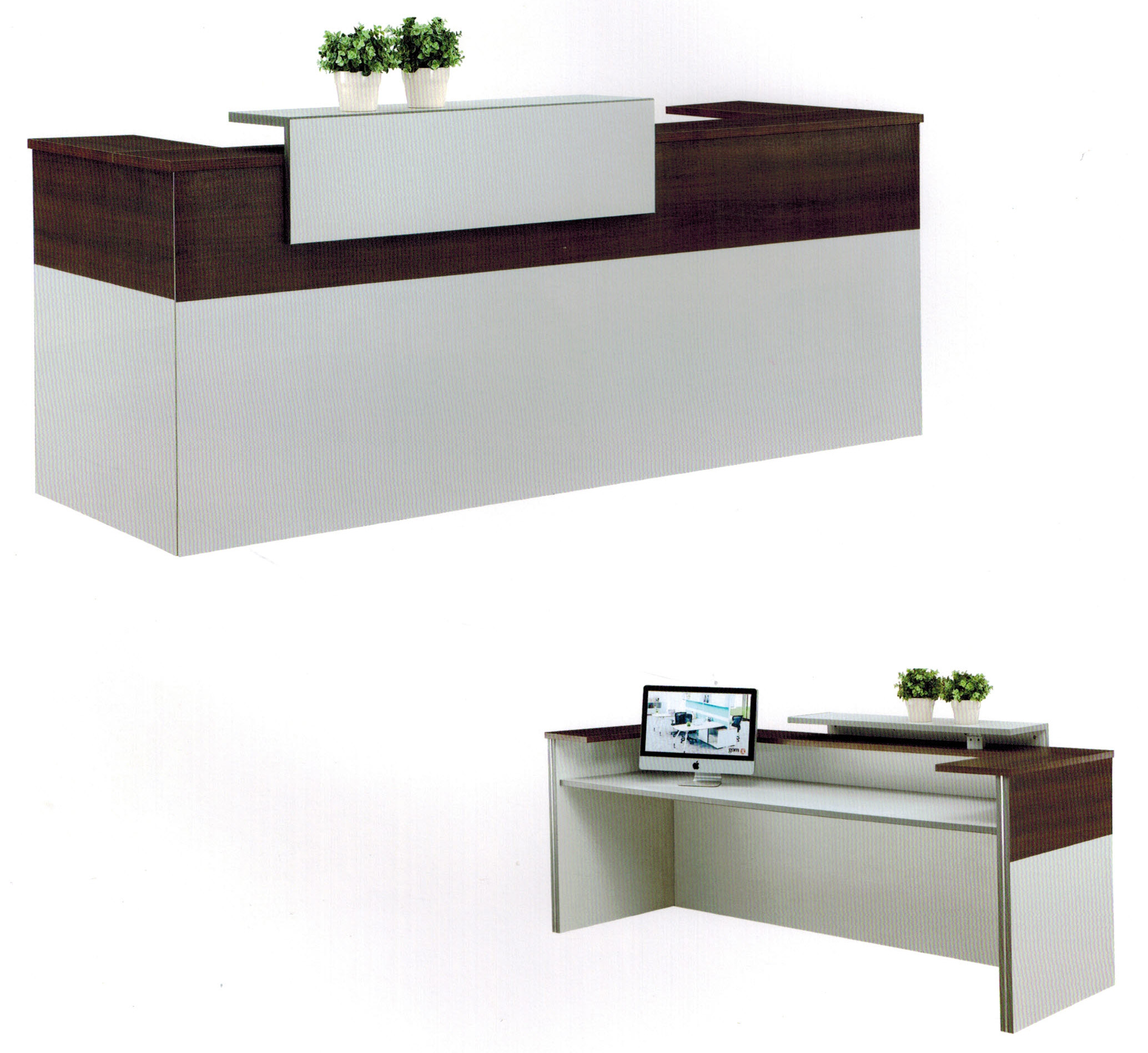 Carlma reception desk techno office furniture office for Wedding table organizer