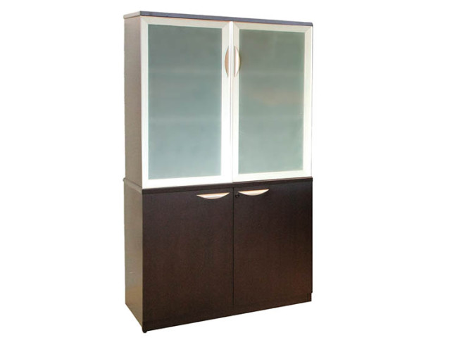 GLASS DOOR STORAGE CABINET