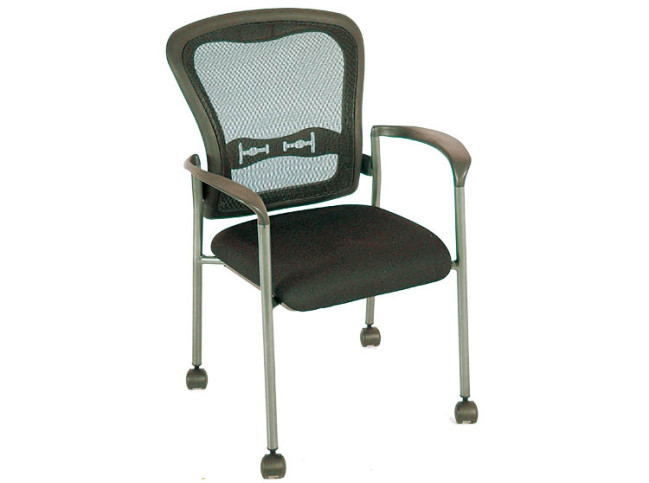 MOBILE 4-LEGS MESH BACK GUEST CHAIR
