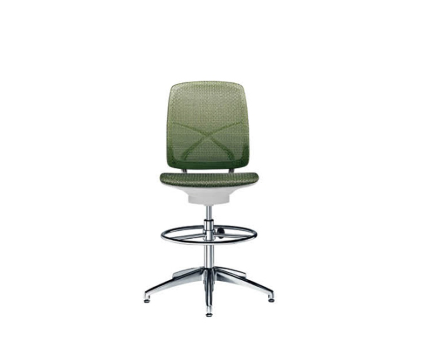Mid Back mesh drafting Stool with simple and compass tide design